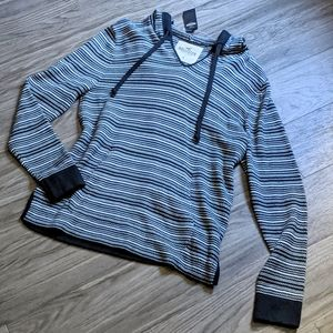 NWT Hollister striped hoodie sweater